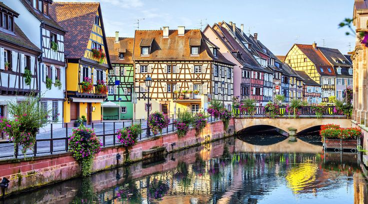 Colmar Colmar, France Trip Ideas building water Canal Town waterway cityscape neighbourhood scene house River Harbor Village flower