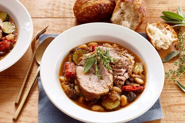 Simply add the ingredients to your slow cooker and then set and forget until dinner time. The resulting pork will be tender enough to cut with a spoon.