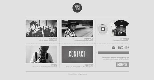 60 minimal/clean web designs to inspire you