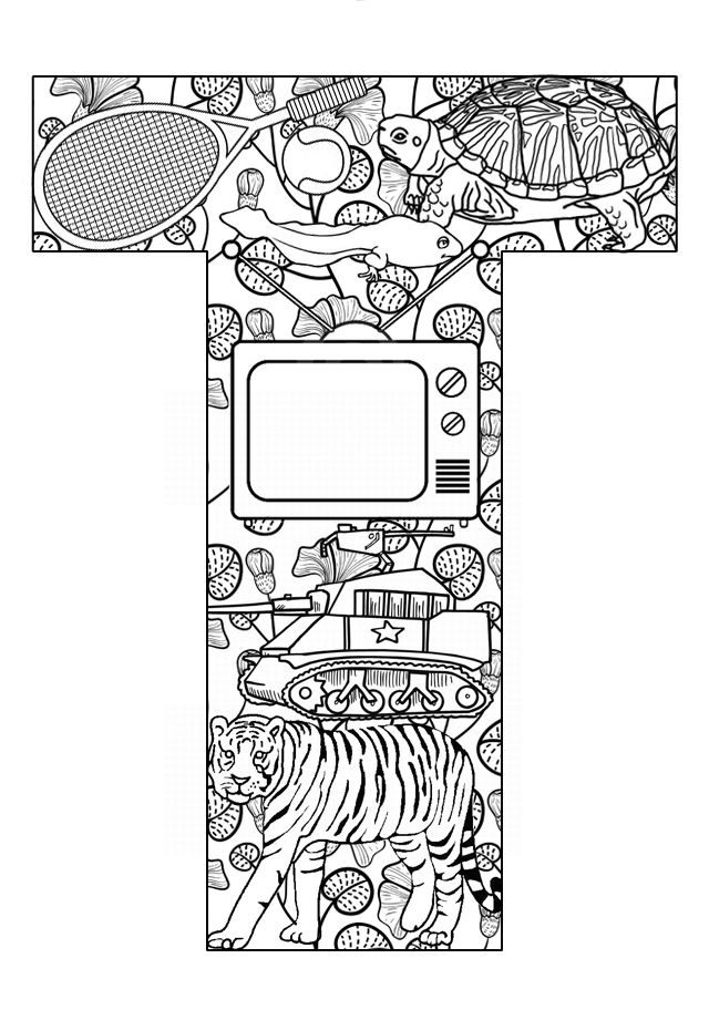 Things that start with T - Free Printable Coloring Pages