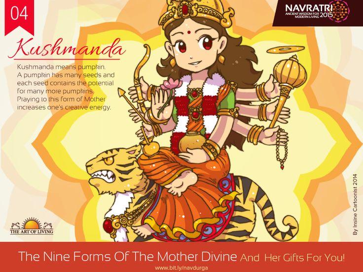Navratri Day 4 : Kushmanda #Praying to this #form of the #Navadurgas (#Divine Mother) enhances one's #creativity.