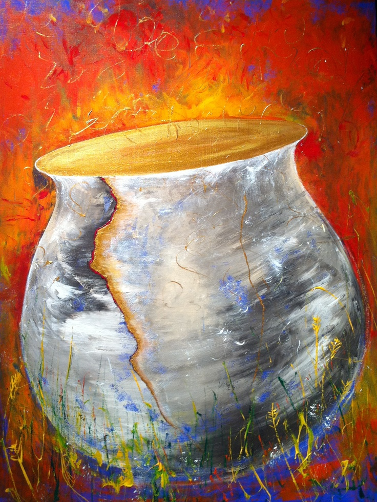 Forgiveness. Painted live at Empowering Love conference with Leonard Jones leading worship. The crack is filled with gold... and cherished. Every experience is redeemed, no one is left behind. Prophetic Art