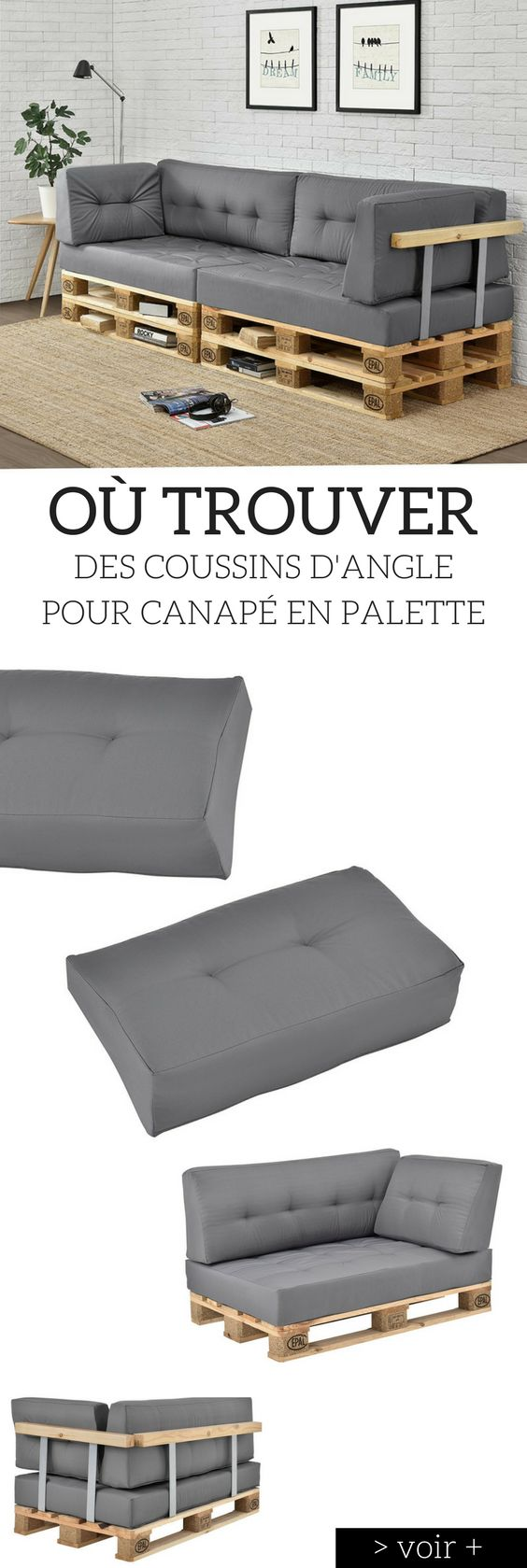 coussin pour canape palette maison design. Black Bedroom Furniture Sets. Home Design Ideas