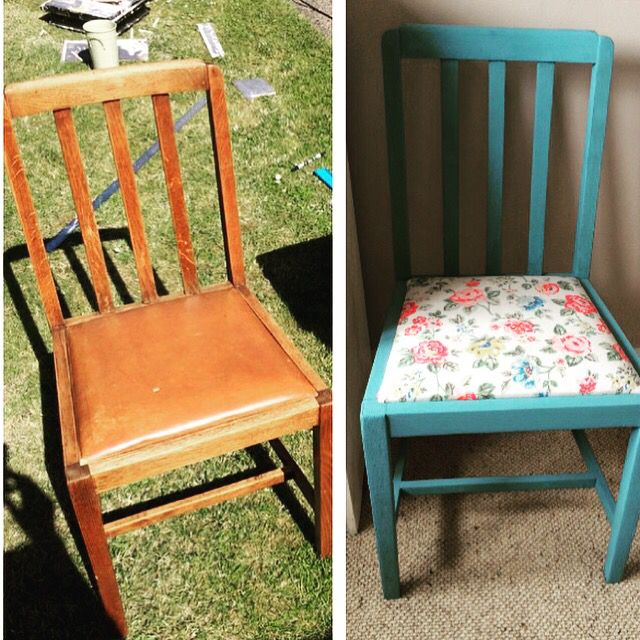 up-cycled chair, chalk paint & cath kidston fabric