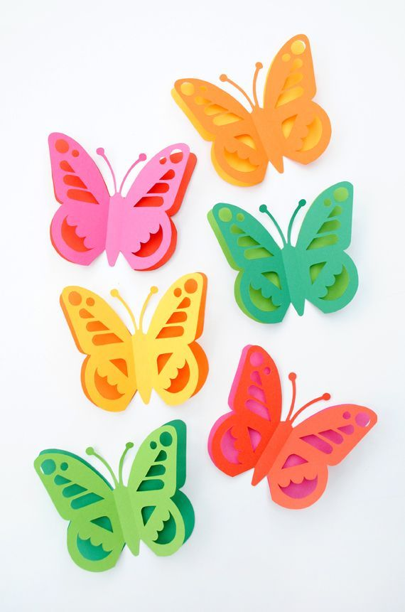 Papercut butterfly // free template