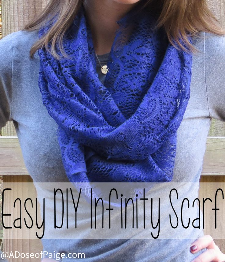This easy DIY Infinity scarf takes about five minutes and is the perfect addition to your fall outfit.