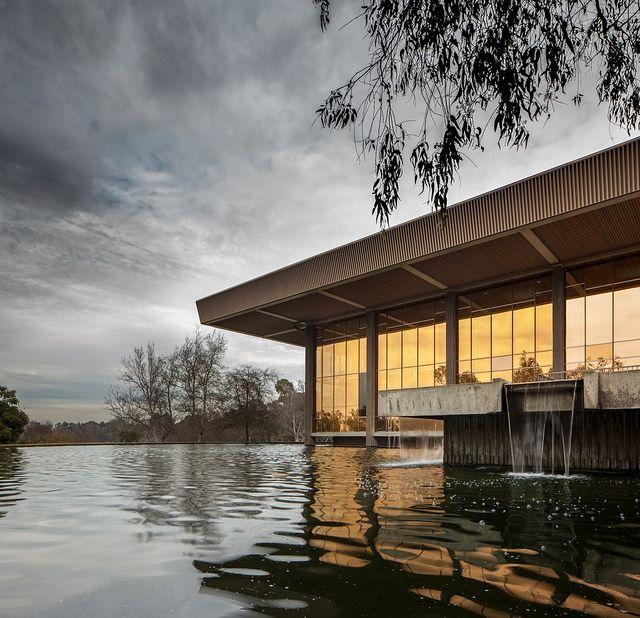 Huntington Beach Central Library Architects: Richard Neutra and Dion Neutra (1970 - 1975) Location: Huntington Beach, CA