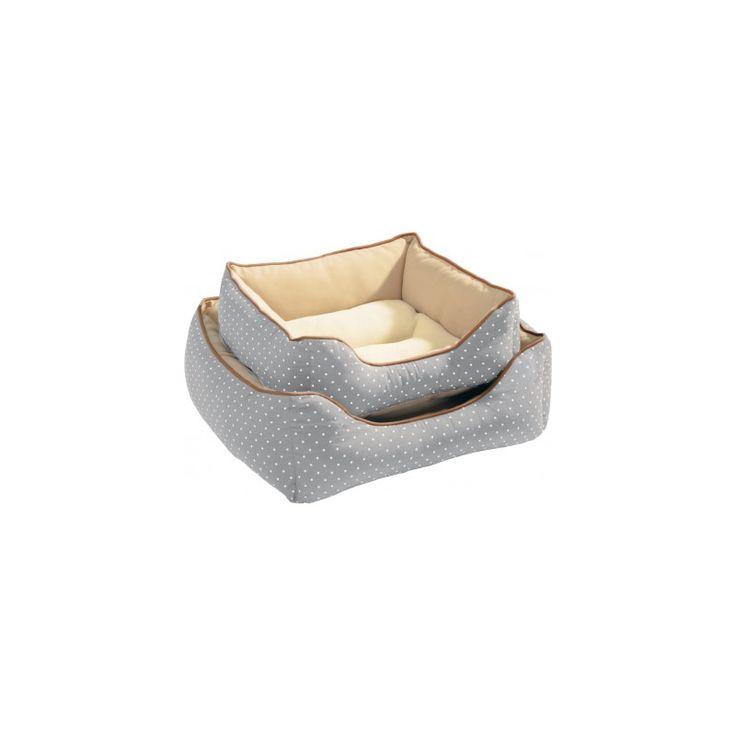 CUNA WHITE DOTS GRIS. Color gris con topitos blancos, cojín integrado con tejido de toalla muy suave, ideal tanto para verano como invierno. http://bit.ly/1FTtDeR