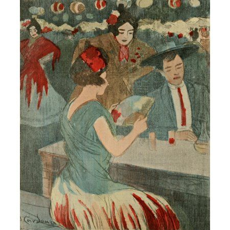 La Vie en Rose 1903 Ceux Quon Nintimide pas Canvas Art - Francisco Cardona (18 x 24)