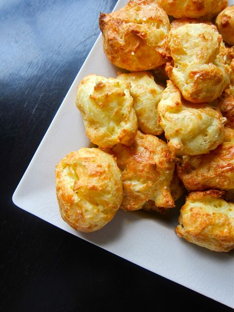 Alain Ducasse Gougeres - I adore these and they're so easy to make - recipe is on my blog, extravagant gardens.com