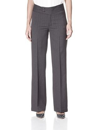 64% OFF NYDJ Women's Double-Button Trouser (Grey)