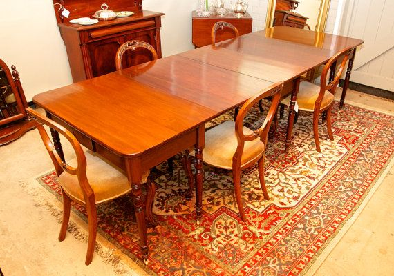 Unique early 19th century mahogany extendable dining table by TheLoch on Etsy