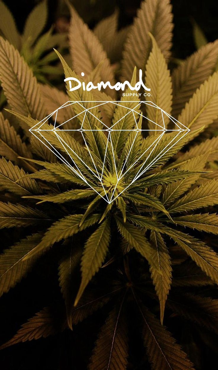 Wallpapers iPhone 5 (diamond,weed) stoner Pinterest