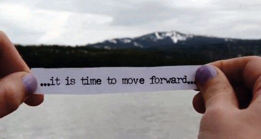 It is time to move forward.