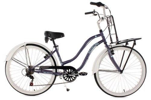 "KS Cycling Damen Fahrrad Beachcruiser 26"" Melba, lila, Rahmenhöhe: 41 cm, Reifengröße: 26 Zoll (66 cm), 731B von KS Cycling, http://www.amazon.de/dp/B007UN6YQE/ref=cm_sw_r_pi_dp_AY9jrb1F6H3VK"