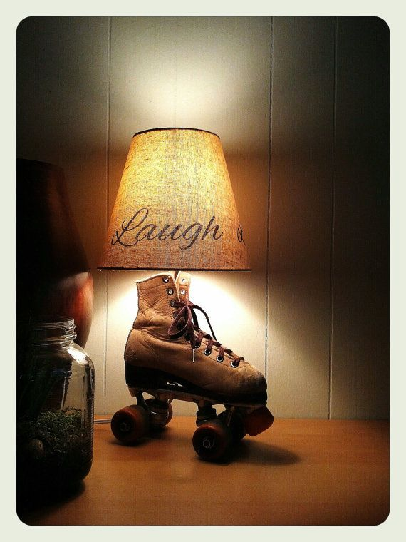 Upcycled Roller skate Table Lamp  FREE SHIPPING by StudioSal,