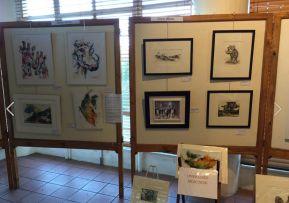 Di White paintings at Art SA Exhibition