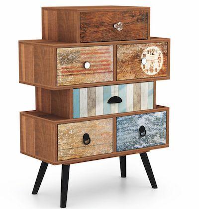 Adauga un plus de culoare in viata ta, pastrant totodata totul organizat! Echilibrul perfect intre functionalitate si design- Cabinet cu sertare Mezo KM-2 Colours