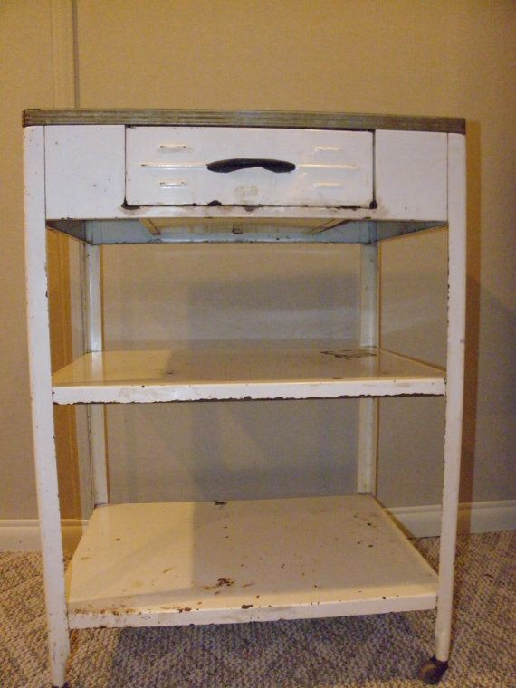 Roll Me Into Service Vintage Kitchen Cart By Stefanikland On Etsy, $187.00