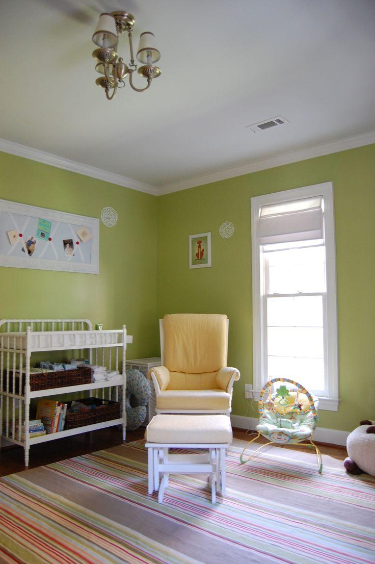 Benjamin moore colors for basement - Play Room Benjamin Moore Dill Pickle In Zeke S Old Room