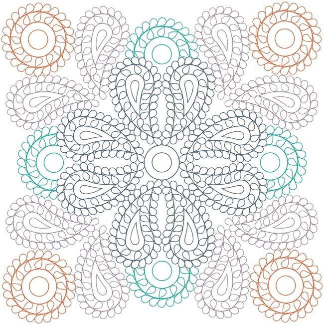 Creative Haven PAISLEY MANDALAS Designs With A Splash Of Color COLORING PAGE