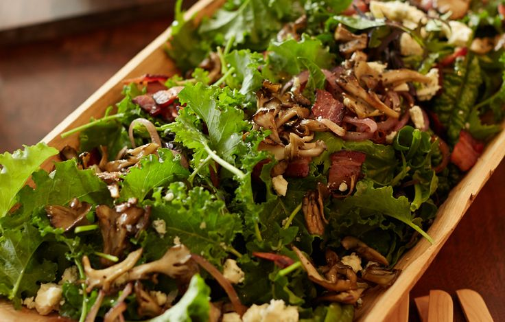 Chanterelle, Bacon And Plum Salad With Blue Cheese Recipes ...