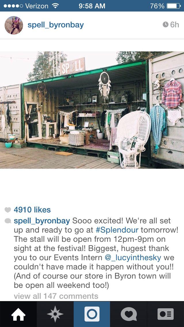 Spell Byron Bay pop-up shop 2015  www.byronbaycampinghire.com.au