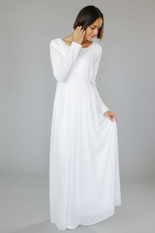 Q.Noor LDS Temple Dress Goldie (probably a small...maybe a medium)