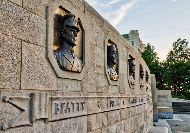 Wall of Generals – The ground was broken on November 1, 1921, for the Liberty Memorial in Kansas City. Among the 200,000 people attending were, then-Vice President Calvin Coolidge; Adm. Earl Beatty of Great Britain; Marshal Ferdinand Foch of France; Gen. John Pershing of the United States; Gen. Armando Diaz of Italy; and Lt. Gen. Baron Jacques of Belgium; as well as 60,000 members of the American Legion, including Harry S. Truman, who would later become America's 33 President in 1945.