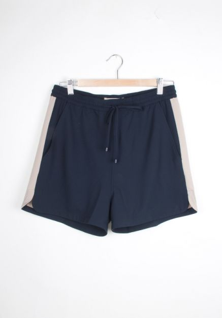 #libertinelibertine High Shorts (navy/tannin) http://www.allfound-store.com/high-shorts-navytannin