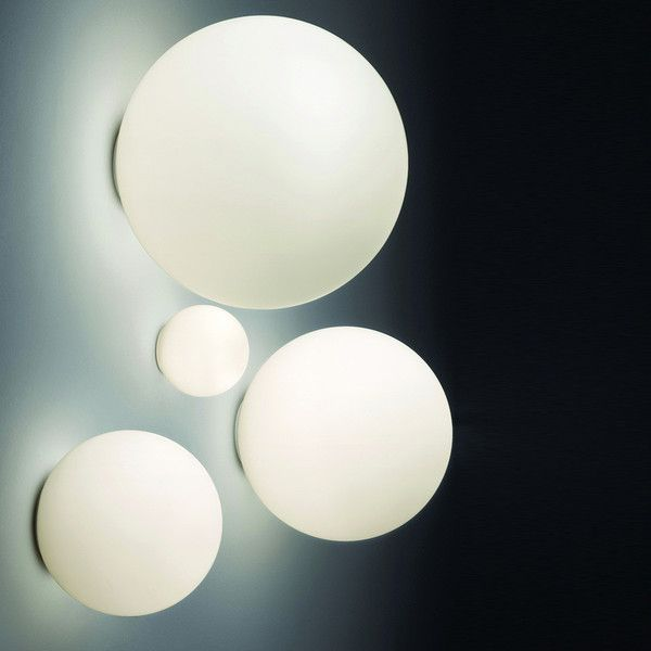 Artemide Dioscuri Wall / Ceiling lamps listed for wet locations made of thermoplastic resin and acid-etched handblown glass in Italy
