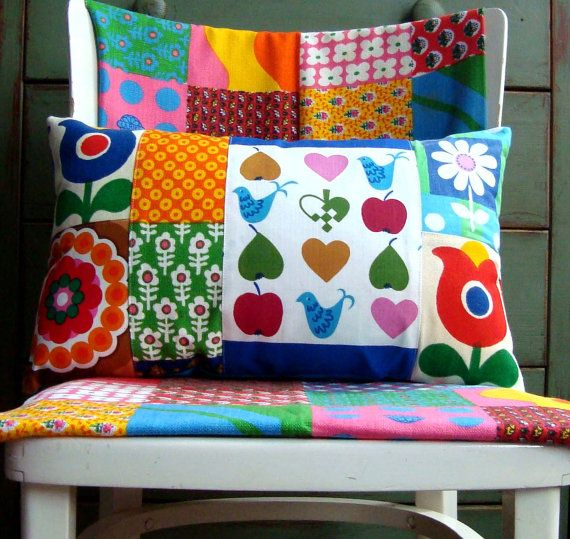 Love this patchwork pillow.