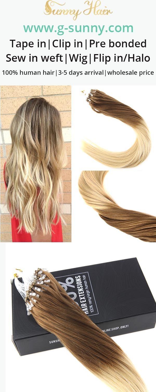 Sunny Hair 100 Remy Human Hair Extensions Micro Ring Human Hair