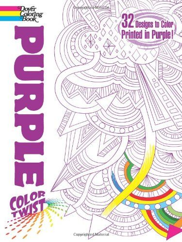 COLORTWIST Purple Coloring Book Dover Books By Jessica Mazurkiewicz