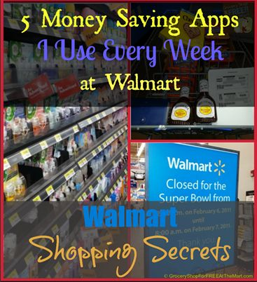 Here are 5 Money Saving Apps I Use Every Week at Walmart!