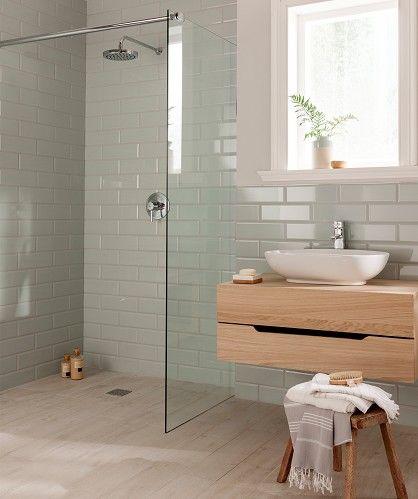 Diamante Pastel Mint Tile £1.46 per tile. £48.67/m2. Color scheme for master