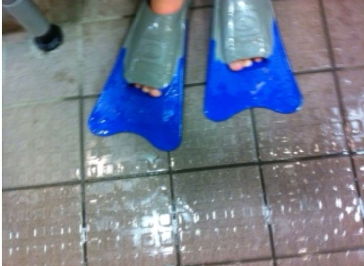 My fins from swimming. They are really weird.