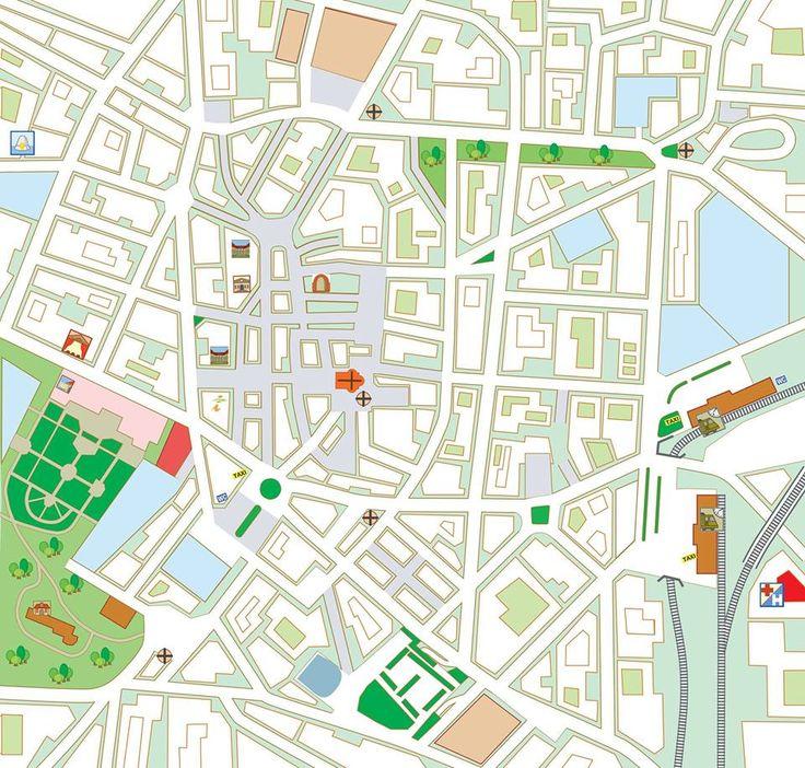 Cartina Muta Centro Italia.Cartina Muta Del Centro Storico Della Citta Di Varese Dai Giardini Estensi Alle Stazioni Disegni A Mano Grafici Mappe