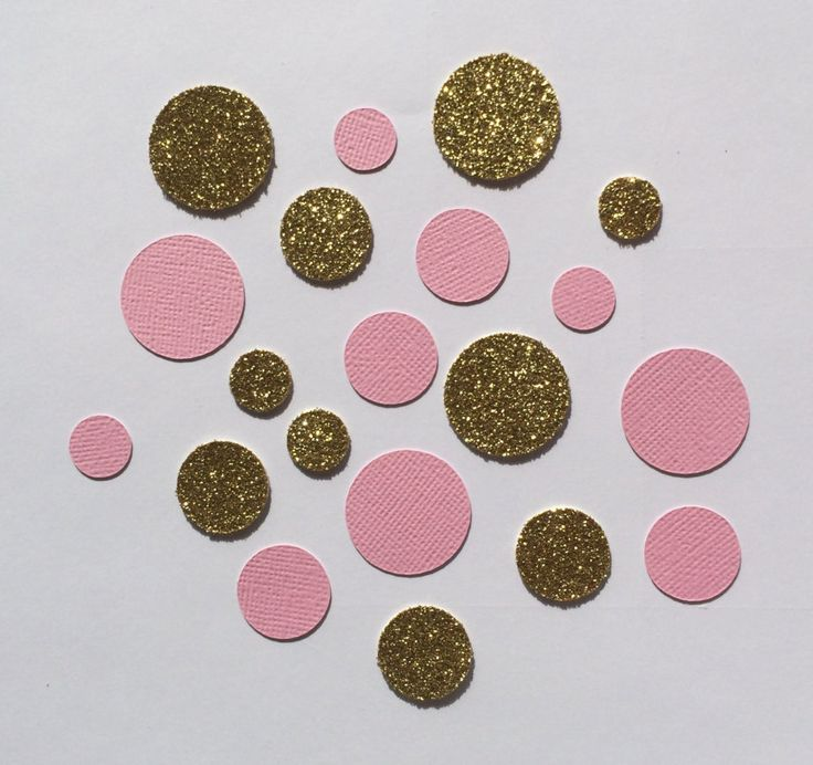 Pink and gold Confetti. Perfect for weddings engagement parties bridal showers birthdays baby showers parties. Glitter confetti.