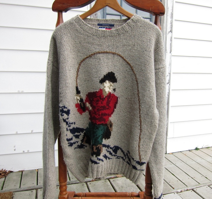 Mens Sweater // Early 90s Preppy Sweater // Vintage Tommy Hilfiger // 90s Hip Hop. Via Etsy.