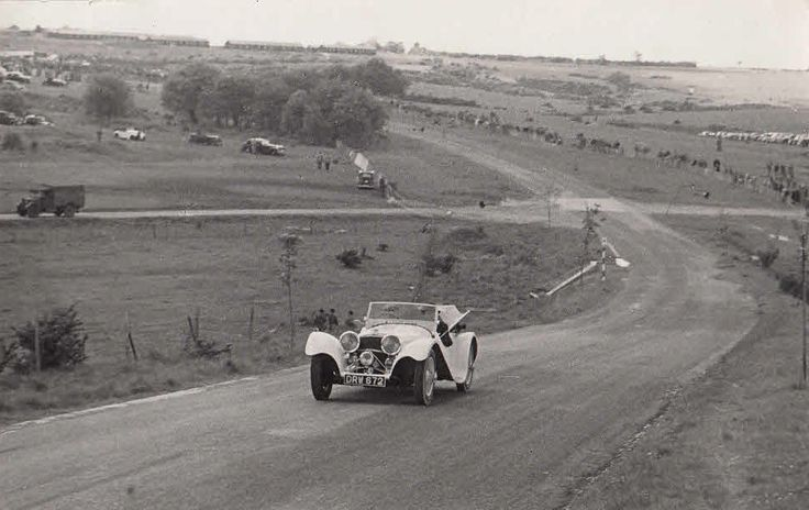JAGUAR SS100 CAR REG No.DRW 672 CIRCA 1949, PHOTOGRAPH.