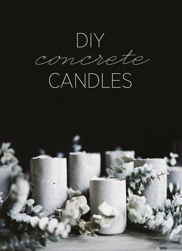 DIY: concrete candles
