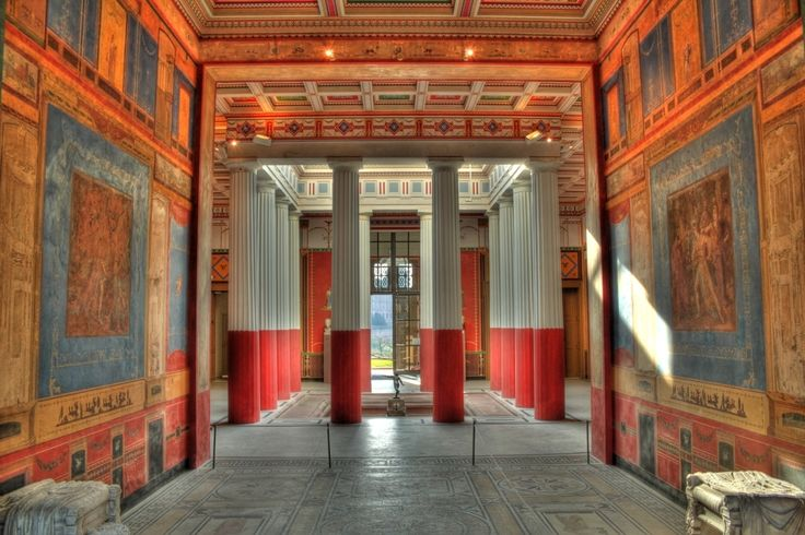 Das Pompejanum in Aschaffenburg   Replica of a house from Pompeii. It stands in Aschaffenburg Germany and was commissioned by King Ludwig 1 in 1840-1848.~This is what a house of a rich family looked like