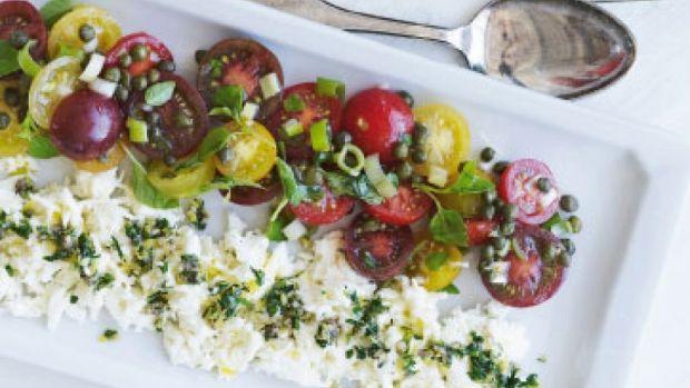 Tomatsalat med kapers og mozzarella | Femina
