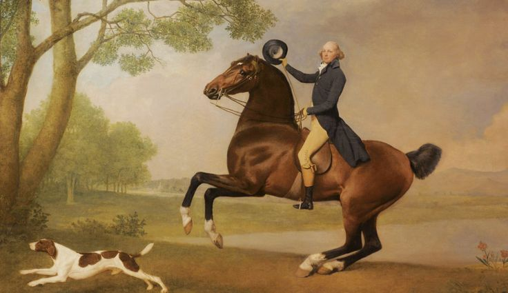 George Stubbs's 'Portrait of Baron de Robeck Riding a bay hunter'