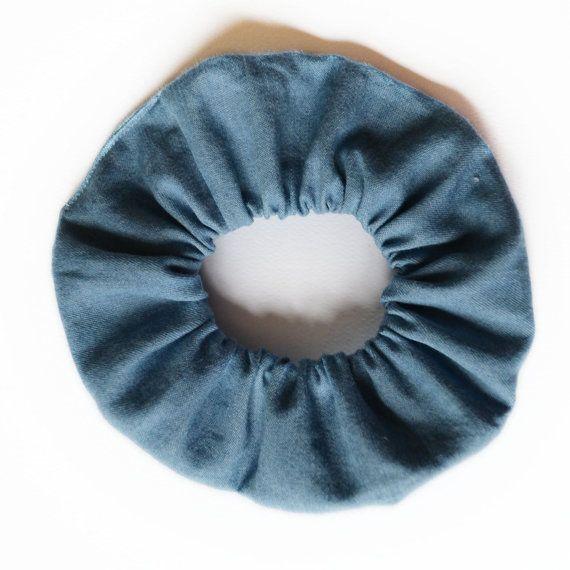Scrunchie Hair elastic. Denim blue jeans. by ChouchouScrunchie