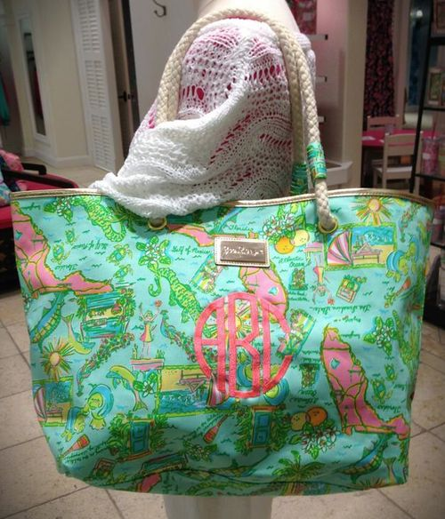 Florida print Lilly Pulitzer bag. Of course!