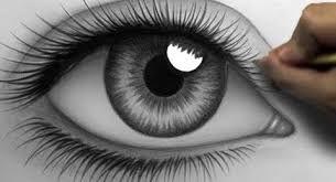 Výsledek obrázku pro kreslení tužkou oko