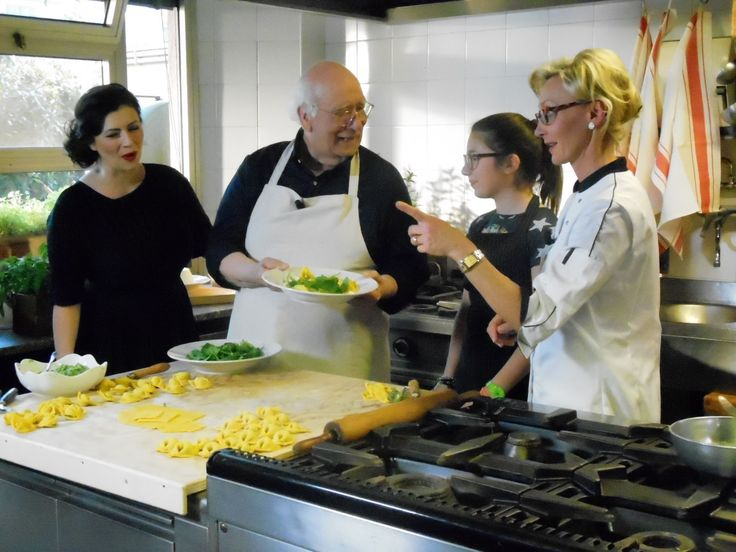 Cooking lesson...who's who?...Giovanni Rana comes to us to see tradition at work