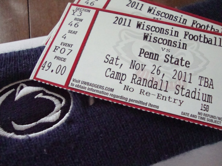 <3 this die-hard penn state girl went to the game with her die-hard badger boy